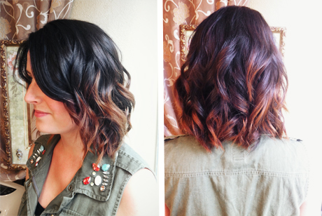 brown to red ombre  Pinterest
